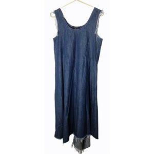 All Saints Spitalfields Womens Size 6 Denim Dress